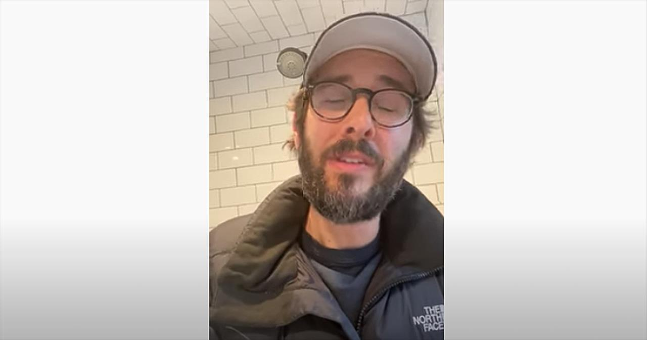 Josh Groban Sings 'Somewhere Over The Rainbow' During Quarantine