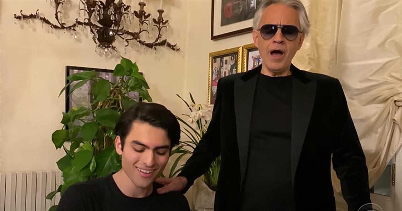 Andrea Bocelli And Son Sing 'Fall On Me' Duet During Quarantine