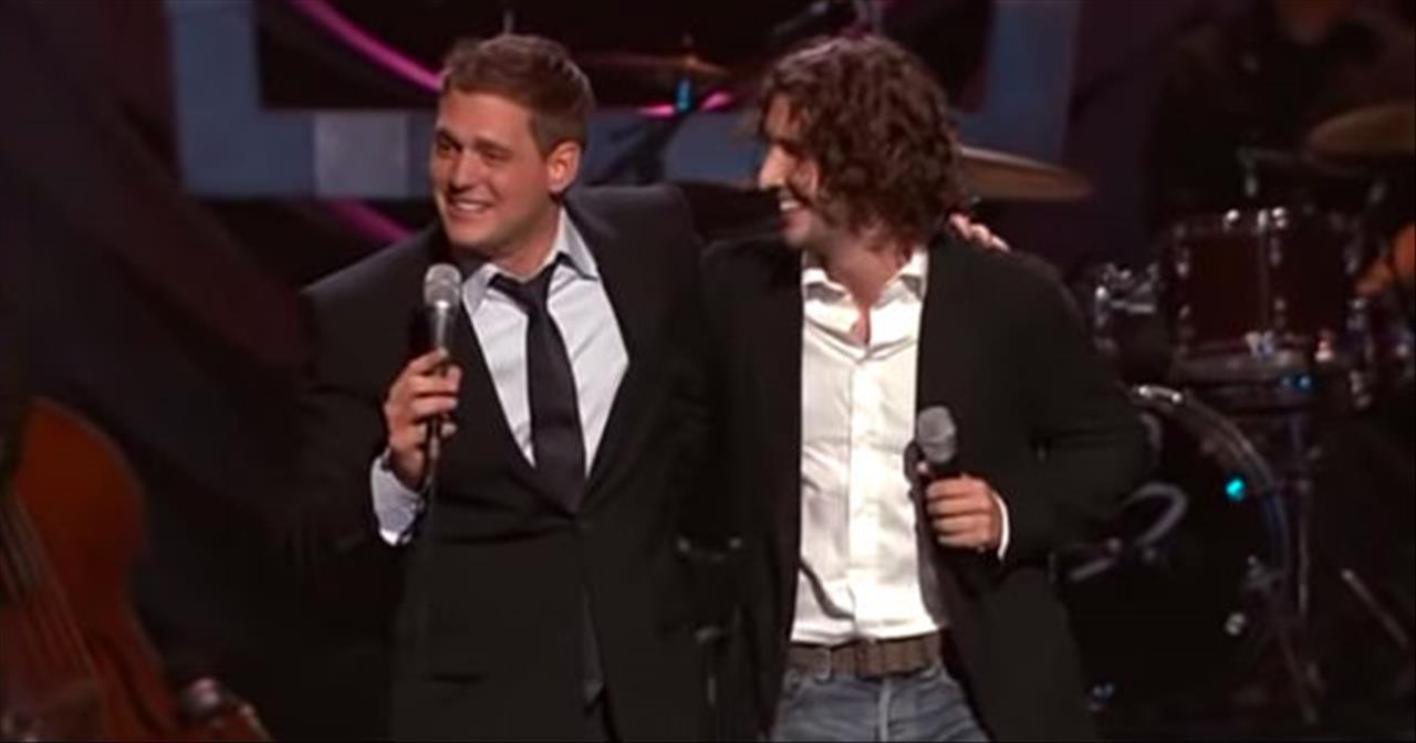 Josh Groban And Michael Buble Sing Each Other's Hits In Hilarious Skit
