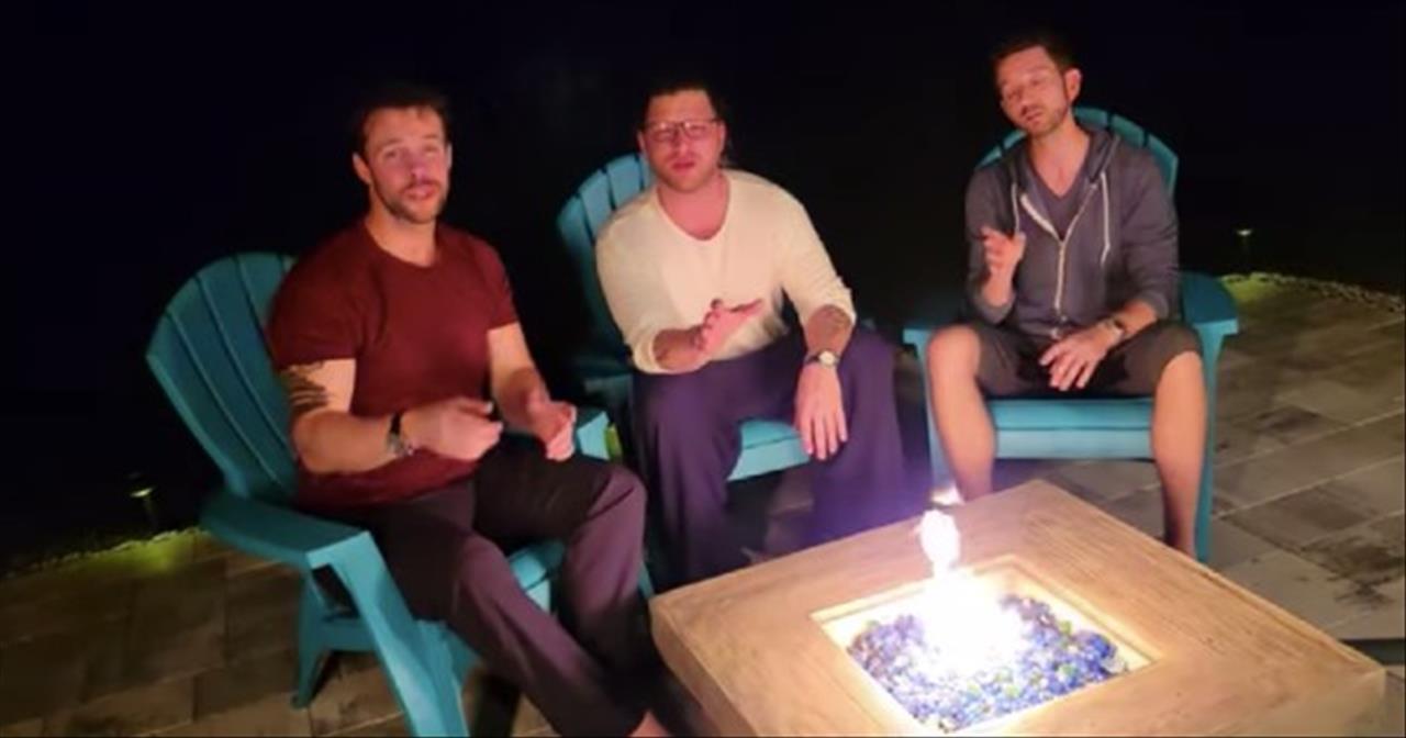 A Cappella Trio Sings 'Bless The Broken Road'