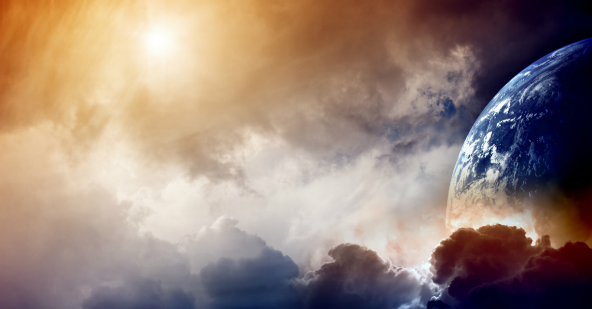 globe in clouds against sun, what to know about end times