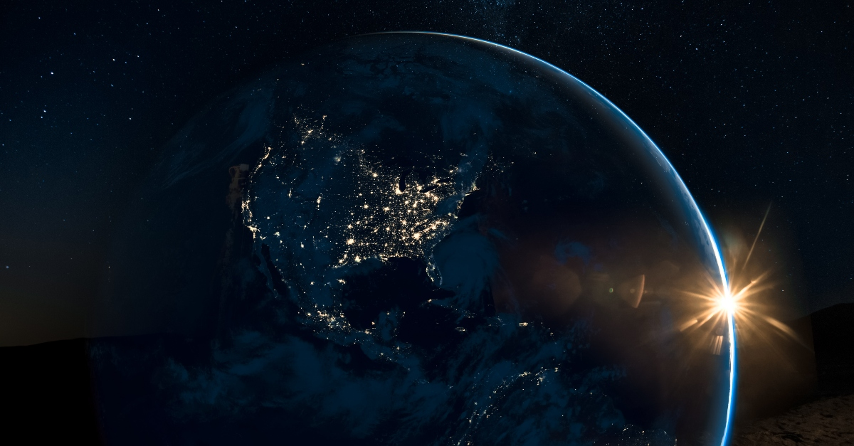 dark world globe in space at night lights, ways satan gone to war during covid-19