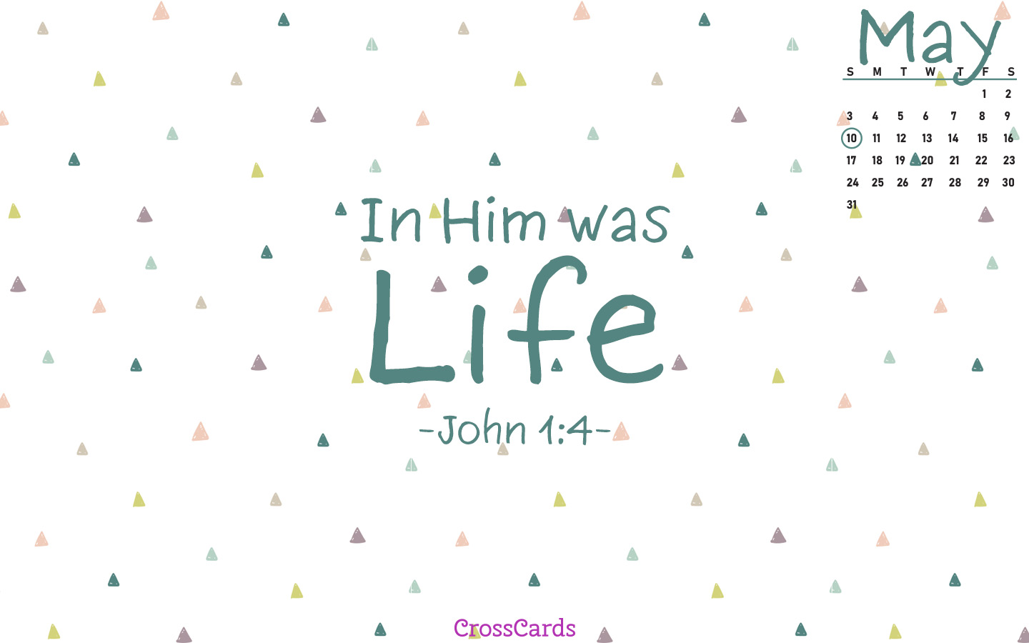 May 2020 - John 1:4 mobile phone wallpaper