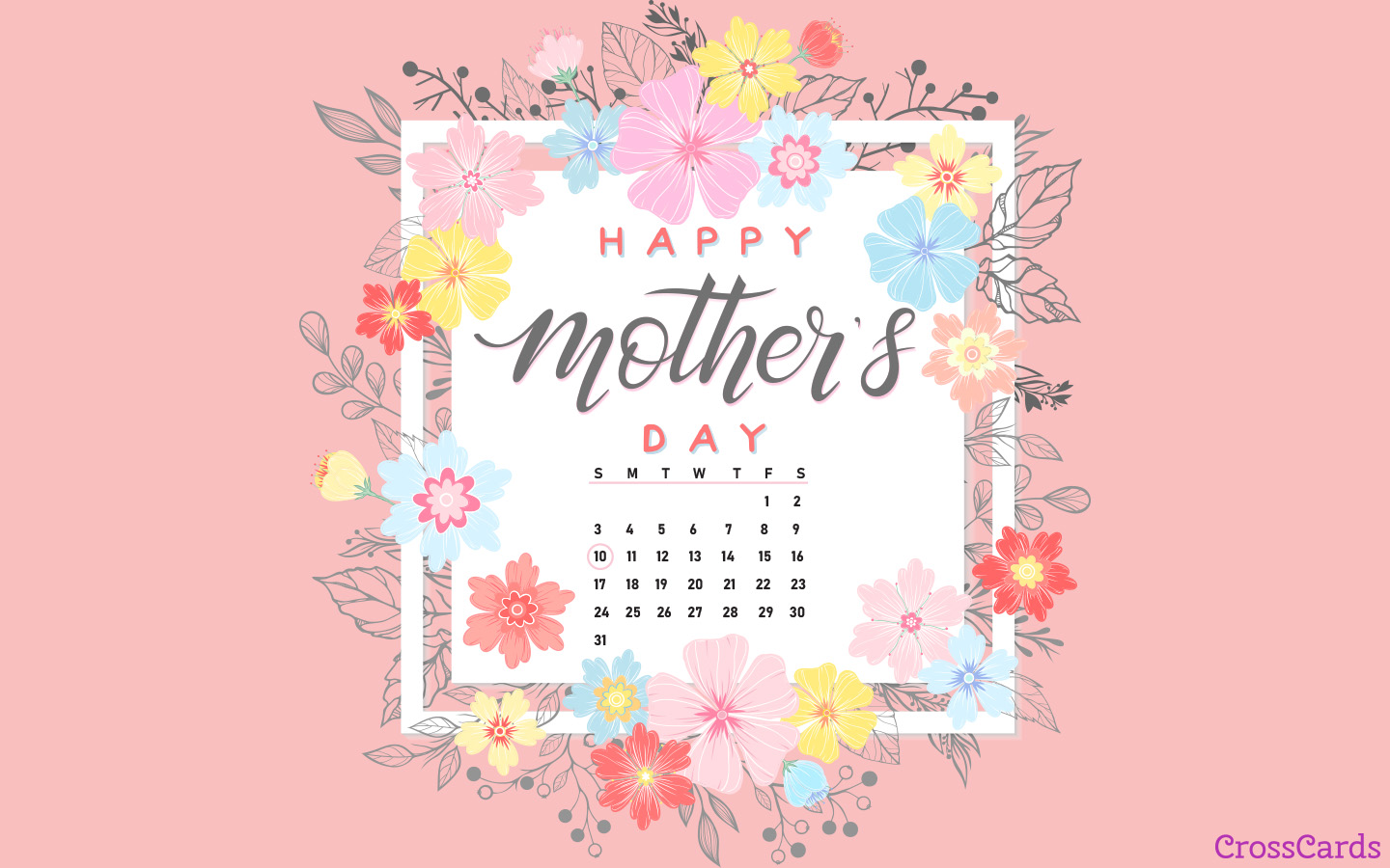 May 2020 - Mother's Day mobile phone wallpaper