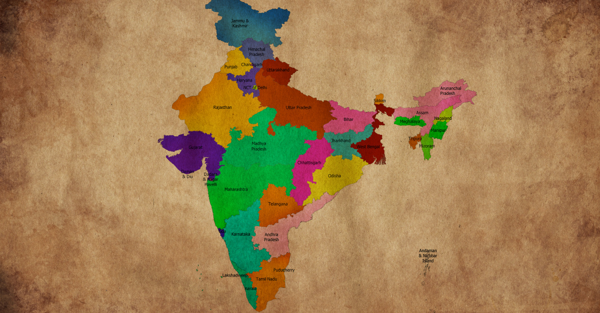 A Map of India, Christian Families Beaten and Threatened with Death in India