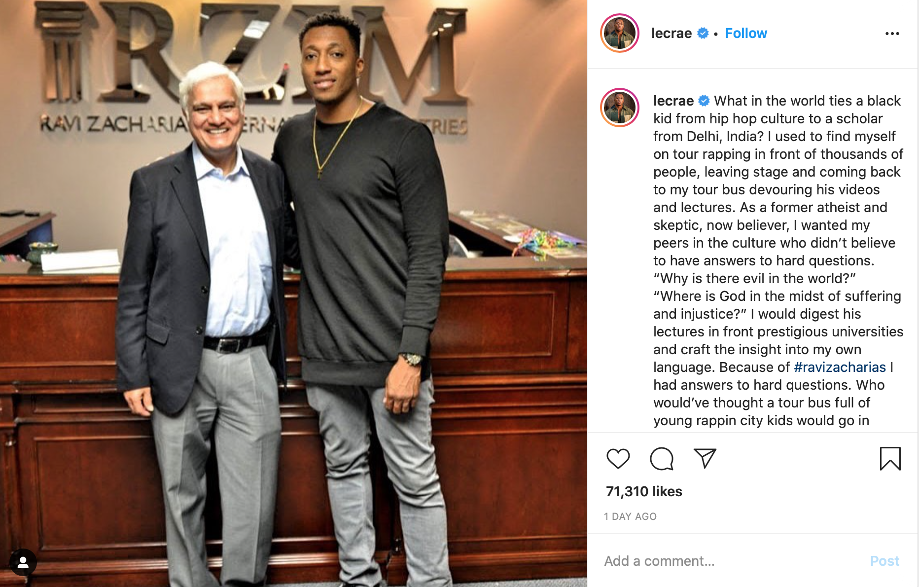 Lecrae and Ravi Zacharias