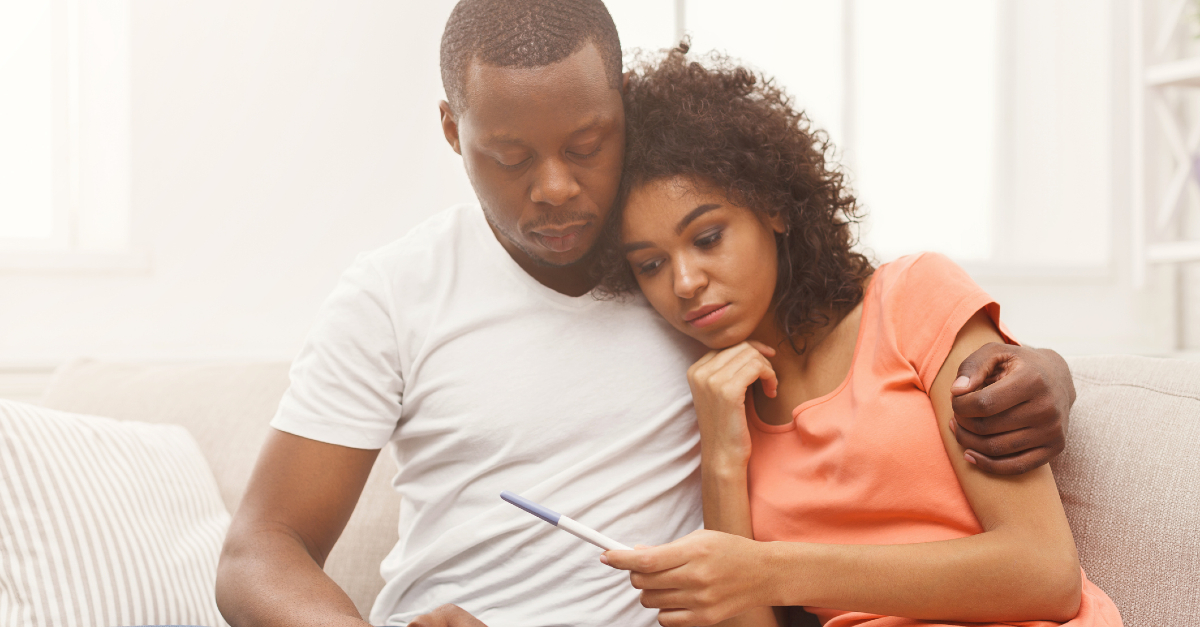 couple experiencing infertility