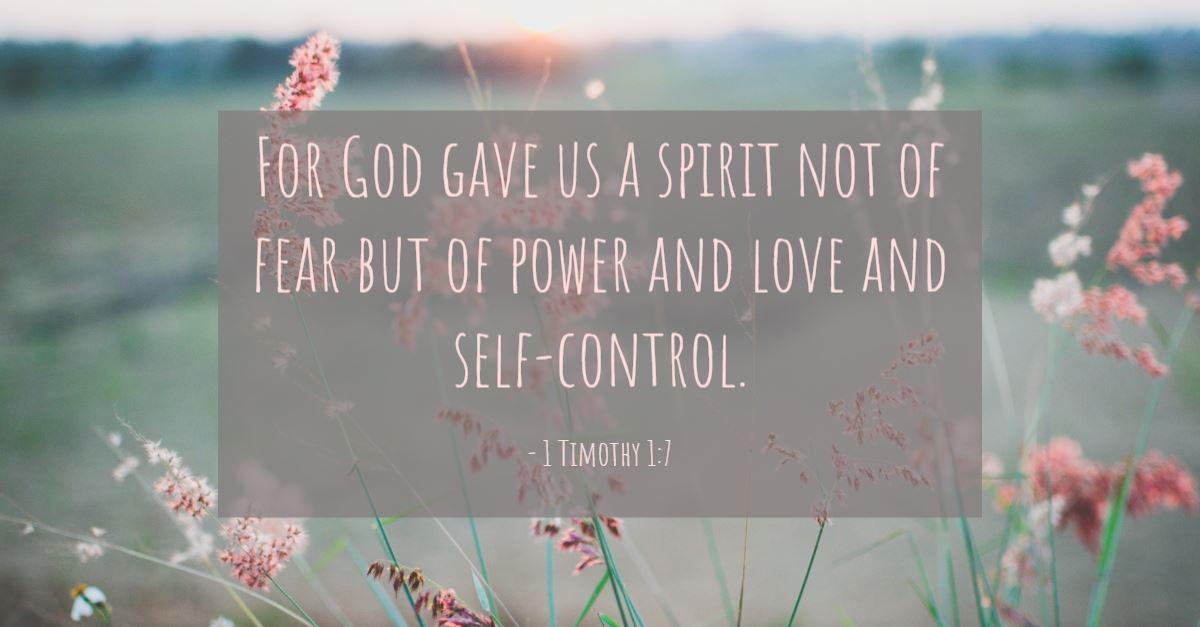 motivational bible verses, 2 Timothy 1:7