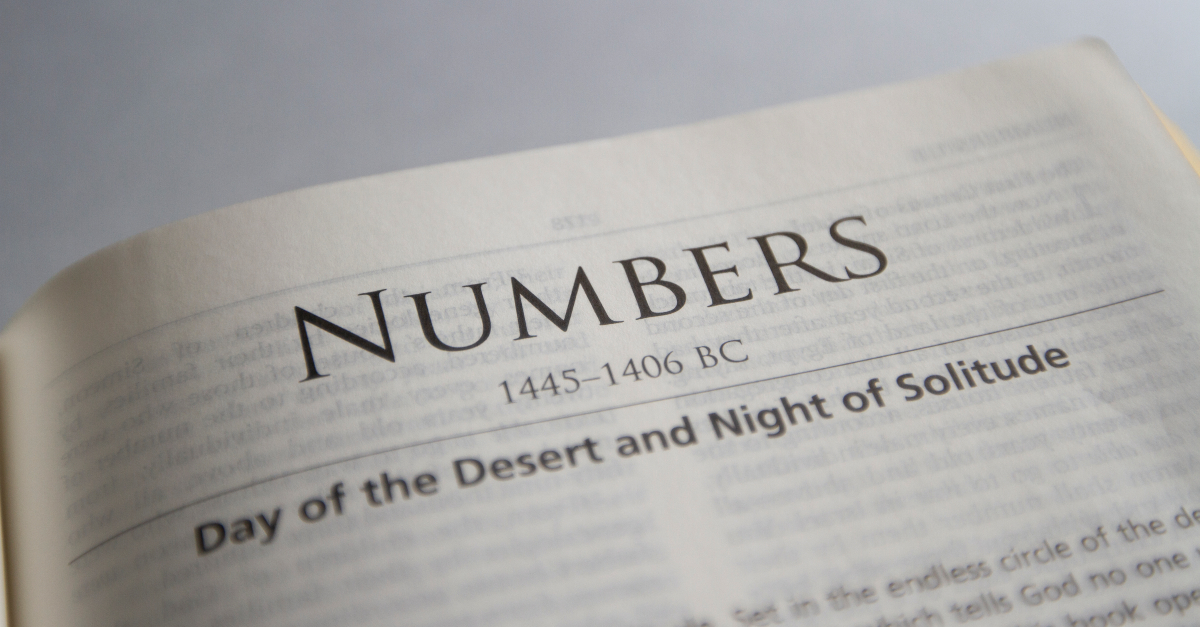 bible open to book of numbers