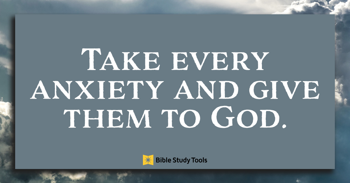 give anxiety to god