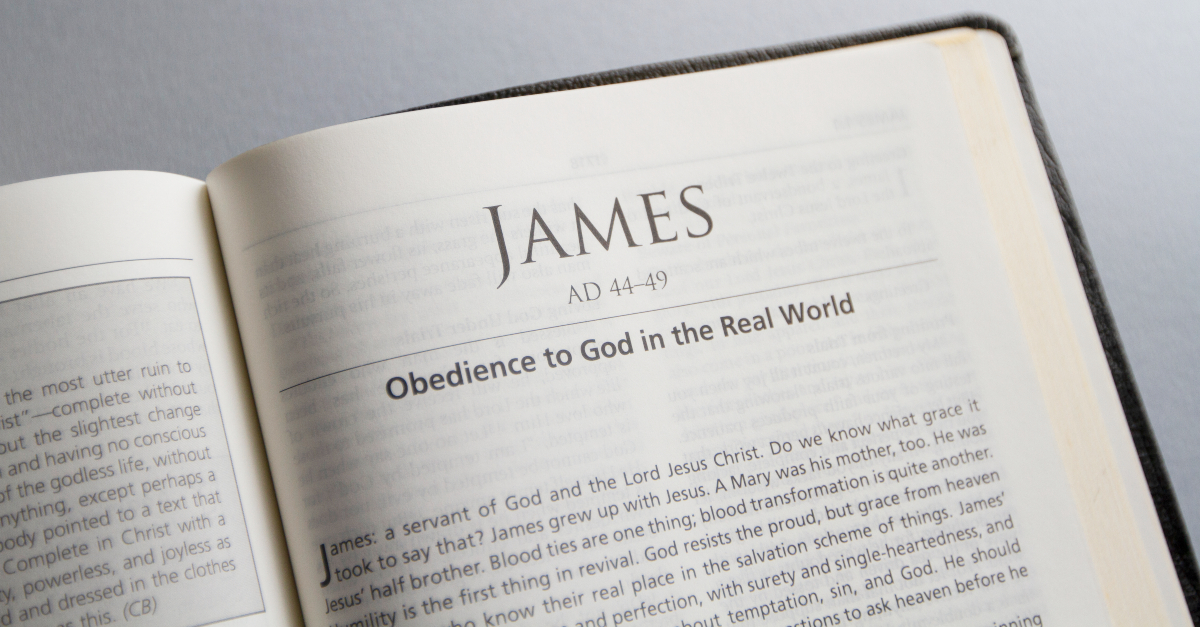 bible open to book of James