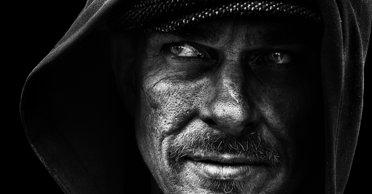 portrait of homeless man Ron photographed by Leah den Bok