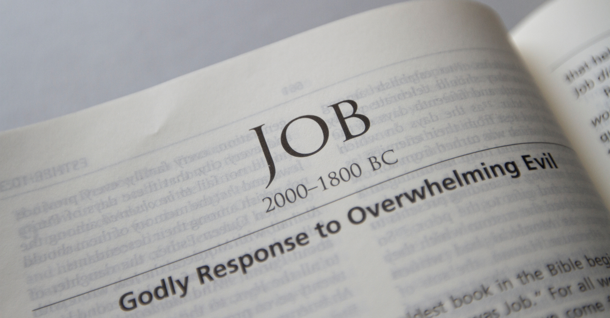Bible open to book of Job