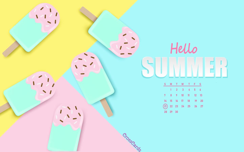 June 2020 - Hello Summer ecard, online card