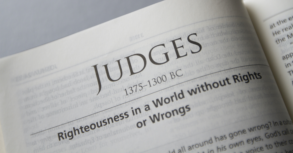 Bible open to book of Judges, Judges summary