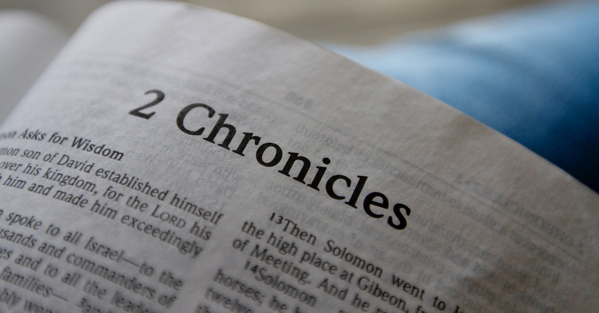 Bible open to 2 Chronicles