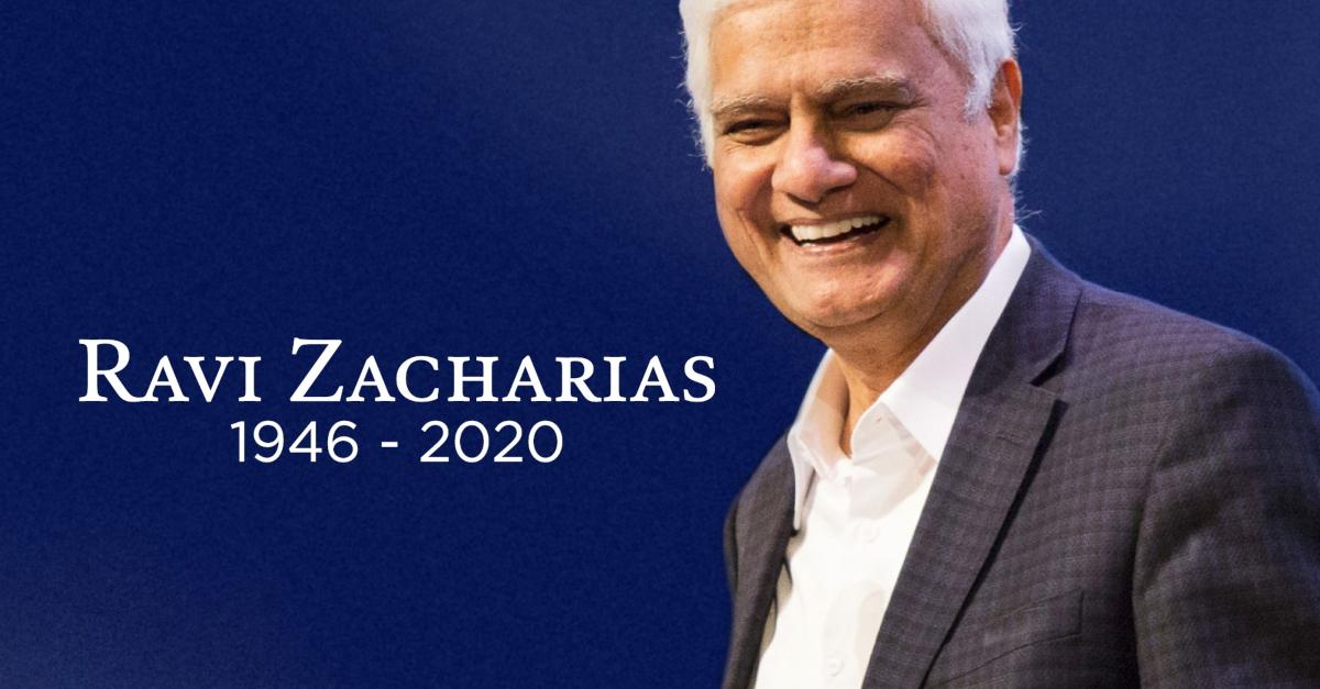 Ravi Zacharias smiling on stage