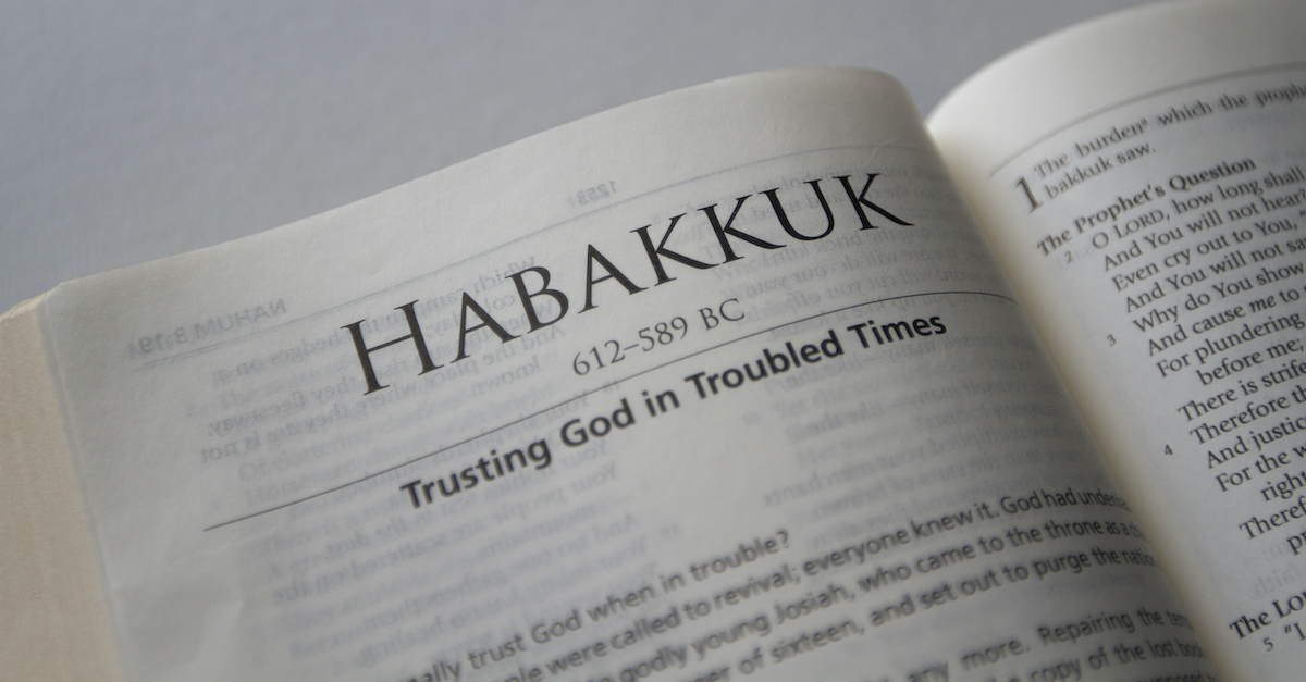 Bible open to the Book of Habakkuk