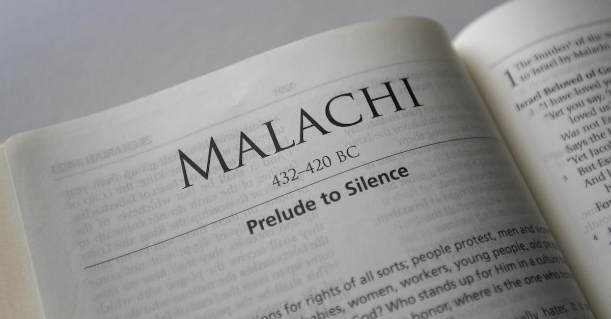 Bible open to Book of Malachi, Malachi summary