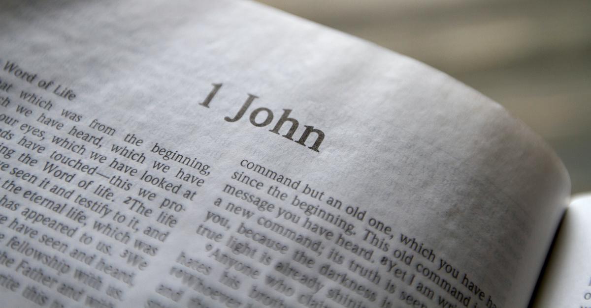 open Bible to 1 John, summary of 1 John