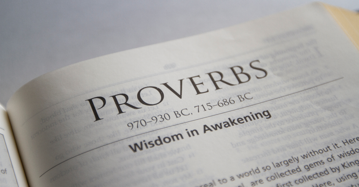 book of proverbs, proverbs summary