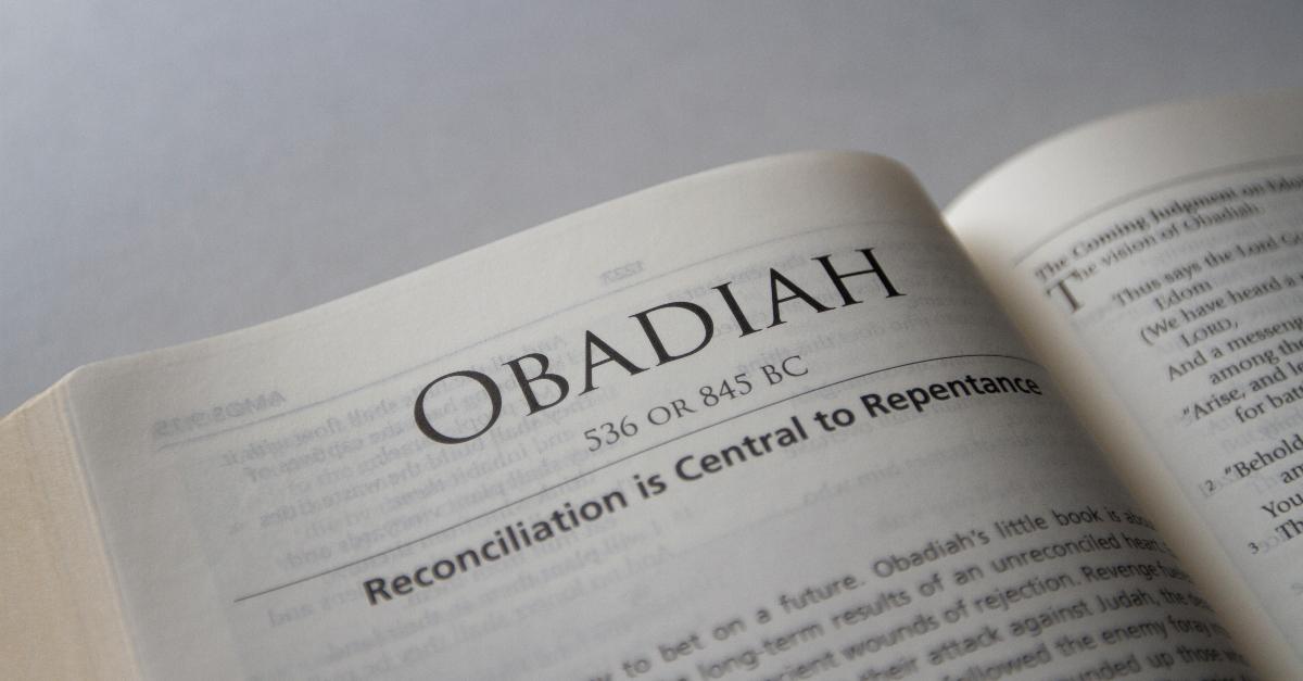 obadiah, book of obadiah, obadiah summary