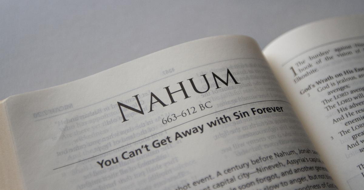 nahum, book of nahum, nahum summary