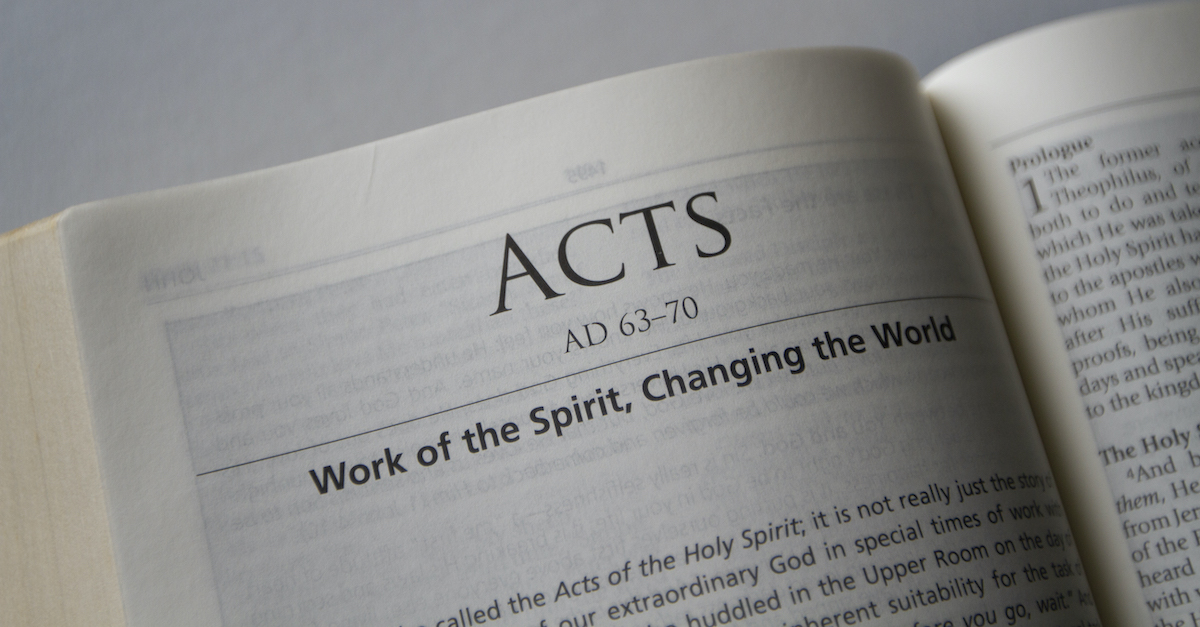 Bible open to Book of Acts, Summary of Acts