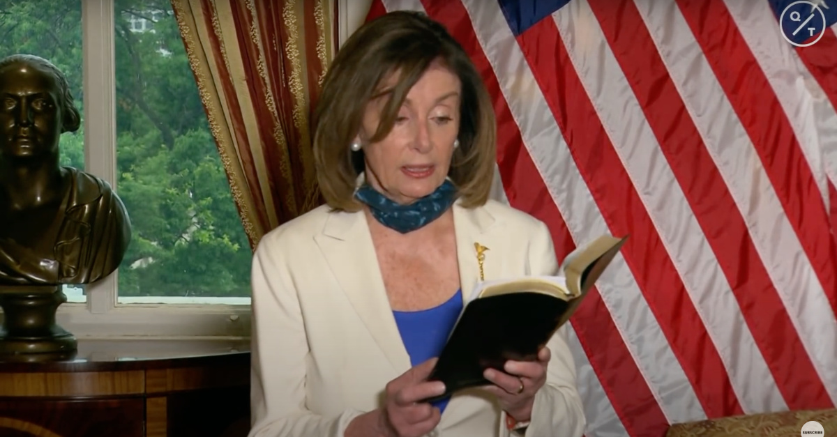 Nancy Pelosi Reads from Bible, Implores President Trump to Be a 'Healer-in-Chief'