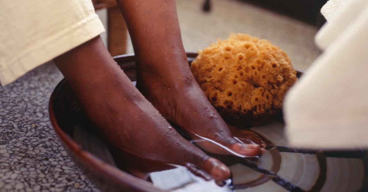 Washing Feet, Church leaders wash the feet of Black protestors