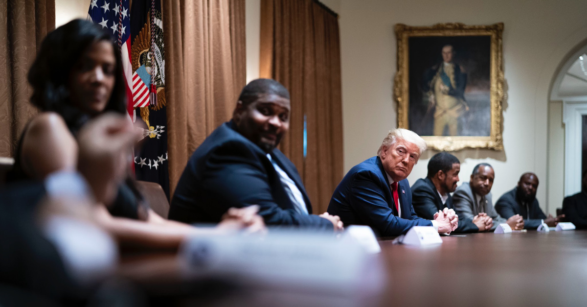 Donald Trump, Trump meets with Black leaders to discuss police reform and anti-racism policies
