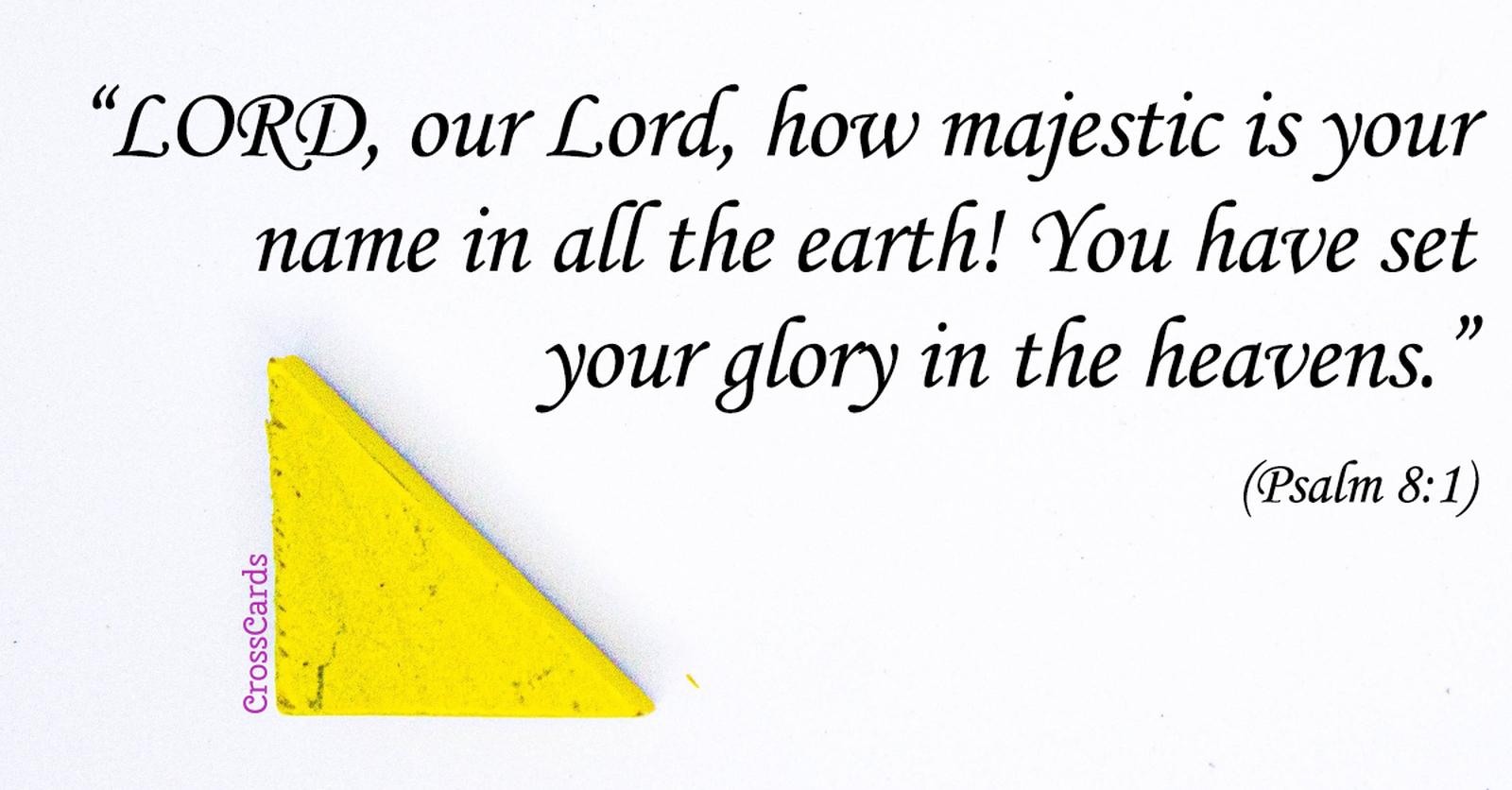 Psalm 8:1 ecard, online card