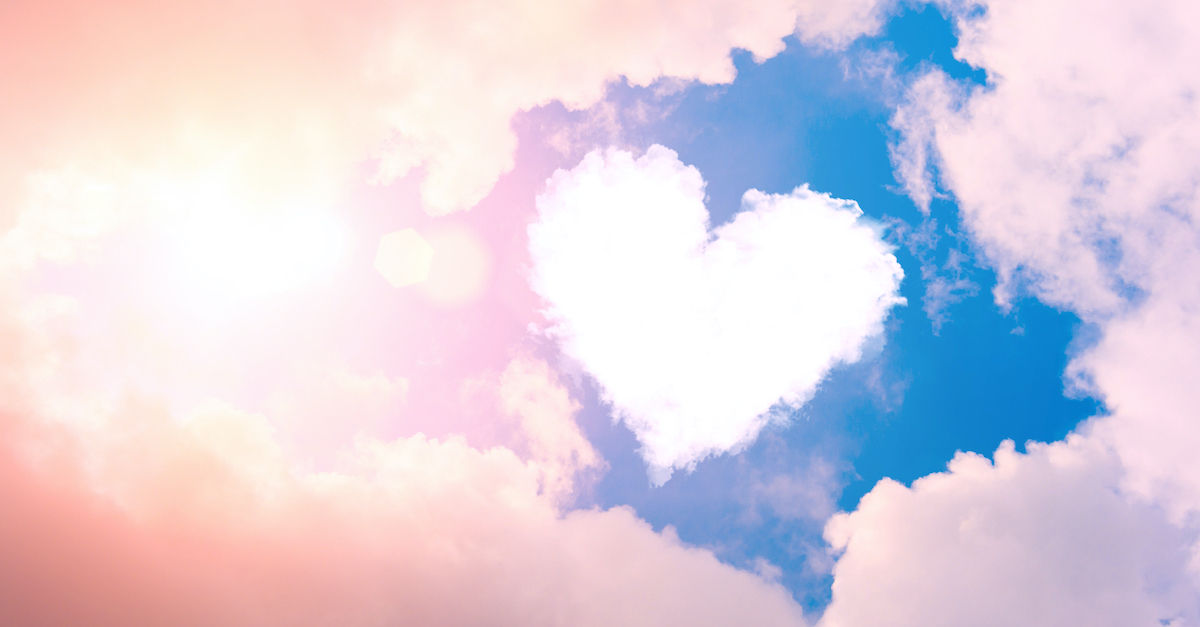 heart cloud in blue sky, goodness of God