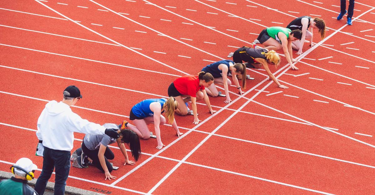 women running track, The DOJ backs an new Idaho law preventing transgender girls from competing alongside biological girls