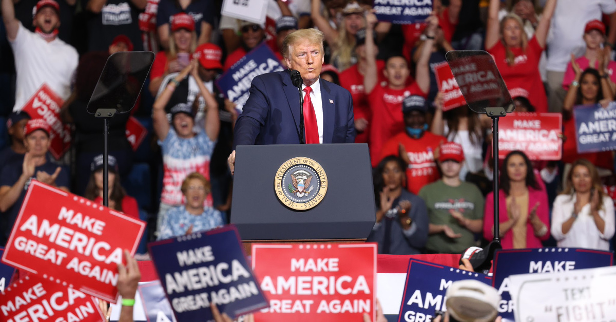 Trump at political rally in Tulsa, Trump warns of Joe Biden's radical ideas if he is elected