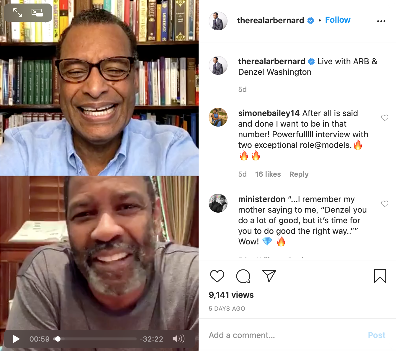 A.R. Bernard IG Live Screenshot