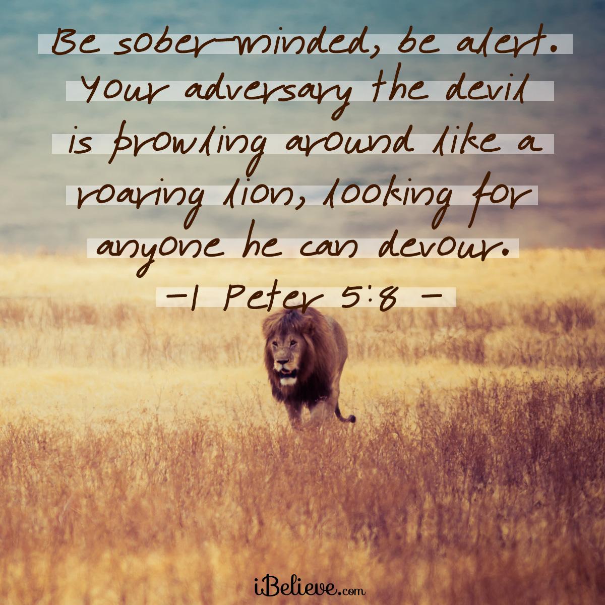 1 Peter 5:8 sq