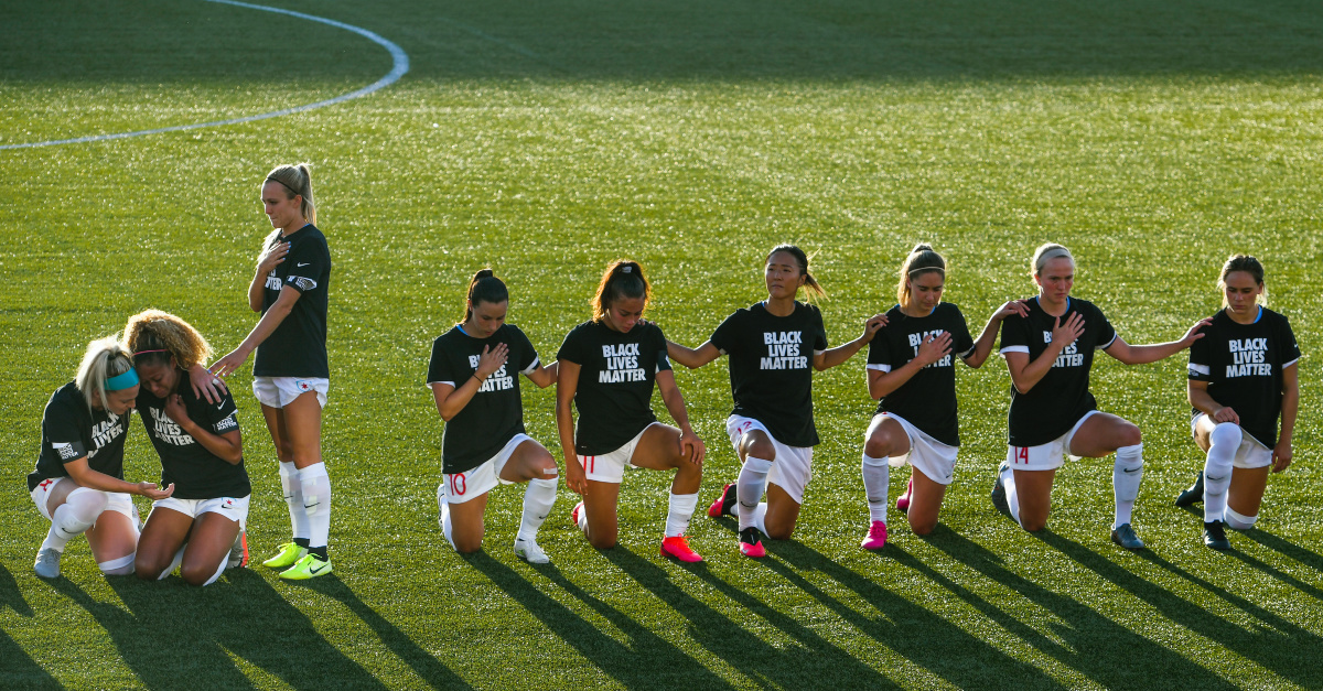 Soccer Player Rachel Hill Shares Why She Stood during the National Anthem as Teammates Knelt