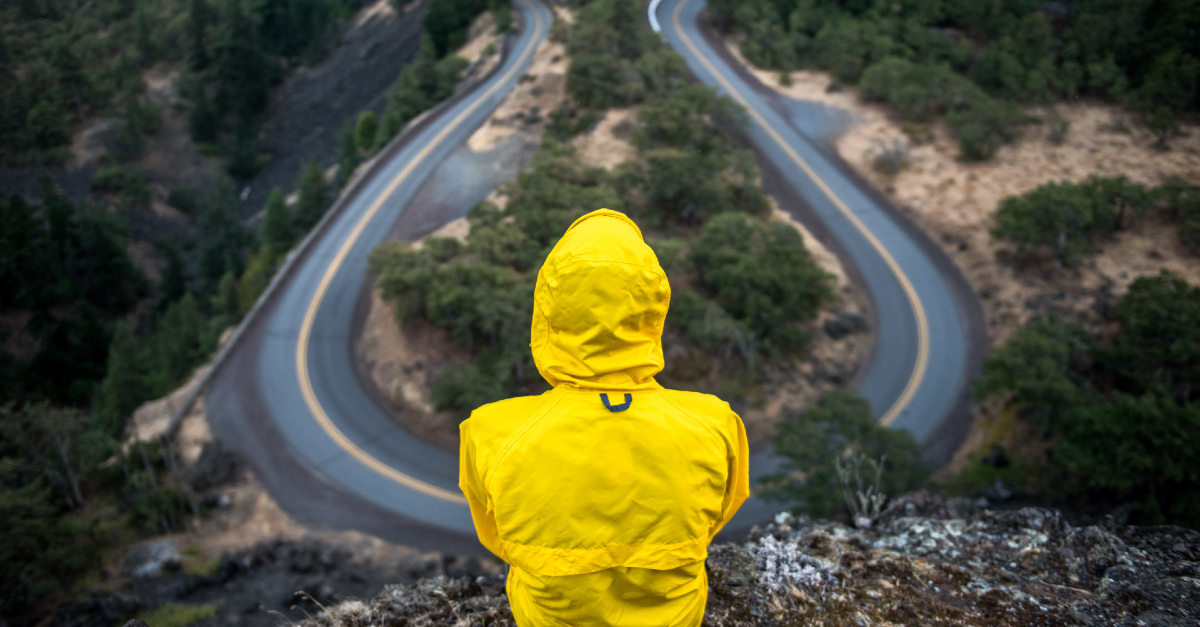 man at a crossroads