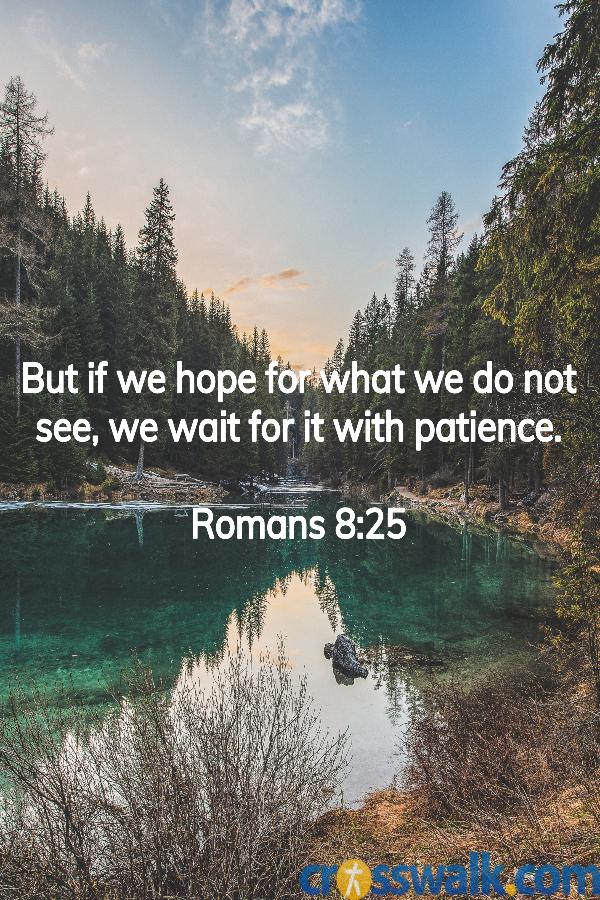 versículos de la biblia para la paciencia, Romanos 8:25