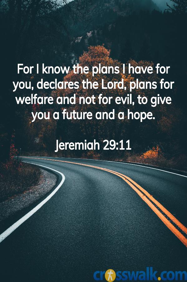 versículos de la biblia para la paciencia, Jeremías 29:11, escrituras para la paciencia