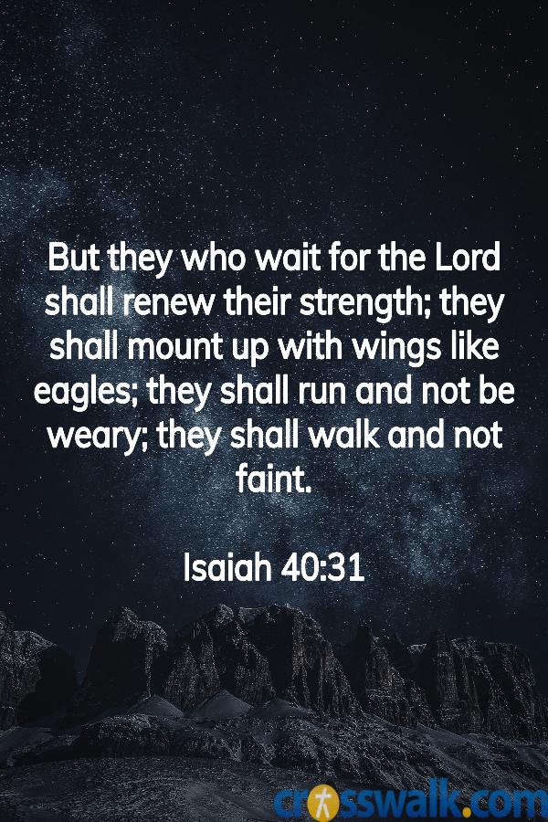 Versículos de la Biblia para la paciencia, Isaías 40:31, escrituras para la paciencia.