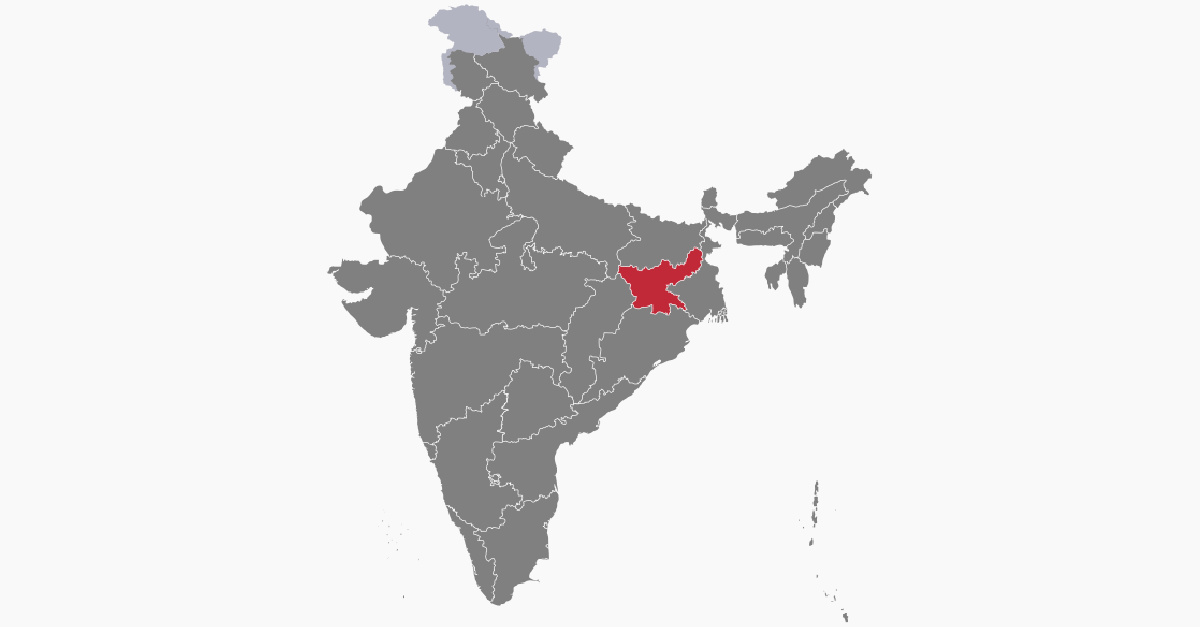 Map of India, woman is murdered by men attempting to rape her young daughter