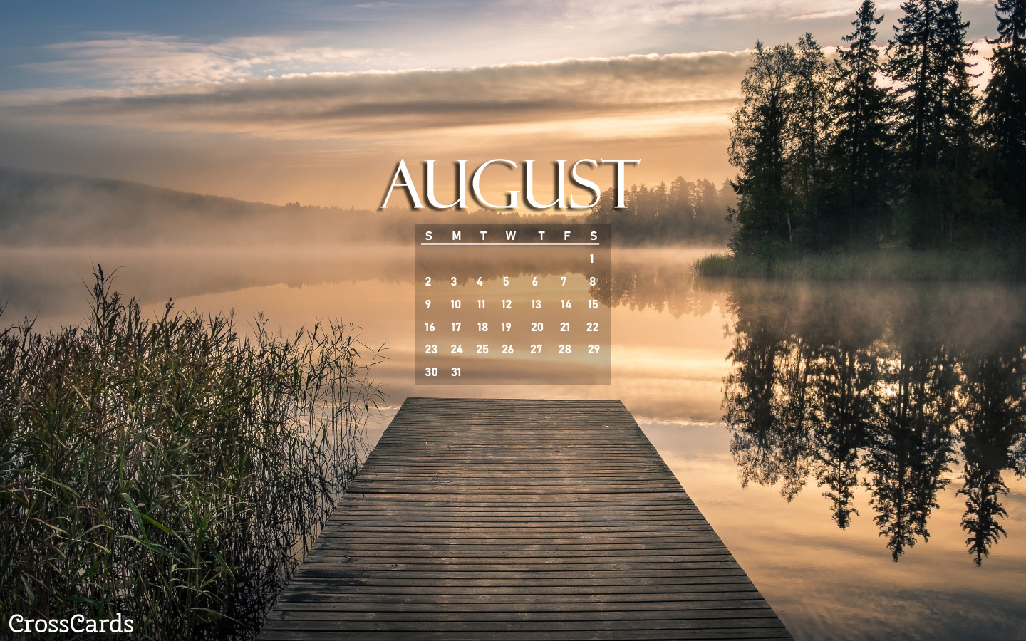 August 2020 - Dock mobile phone wallpaper