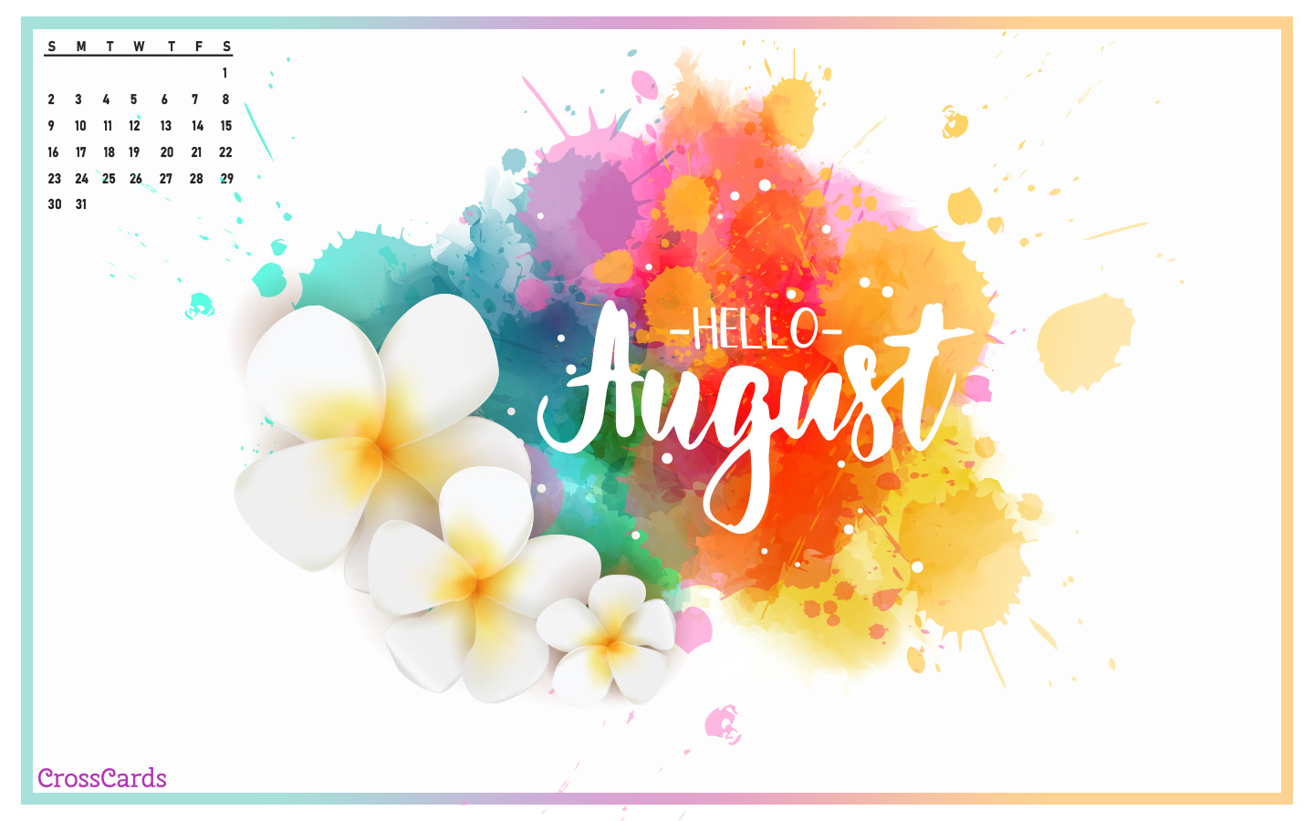 August 2020 - Hello August! mobile phone wallpaper
