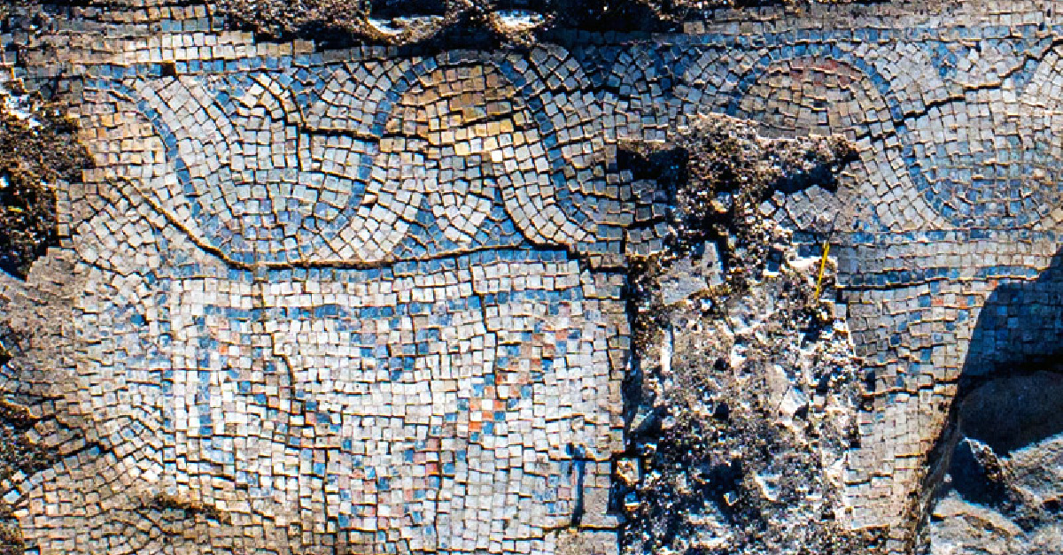 A mosaic floor of a 1300-year-old church, a 1300-year-old church is unearthed in Israel