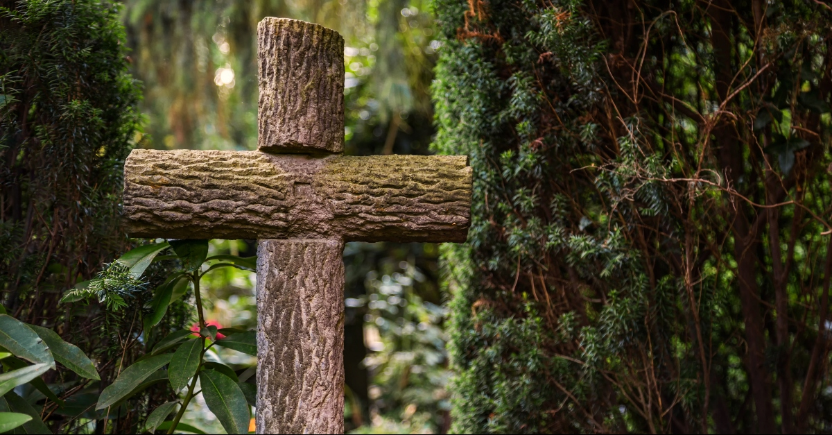 Cross in the garden