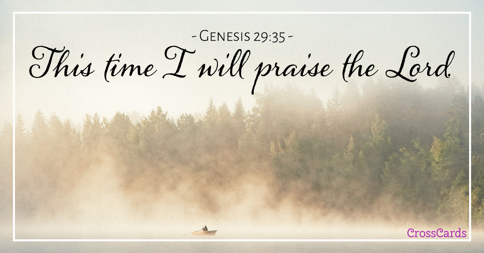 Genesis 29:35 ecard, online card