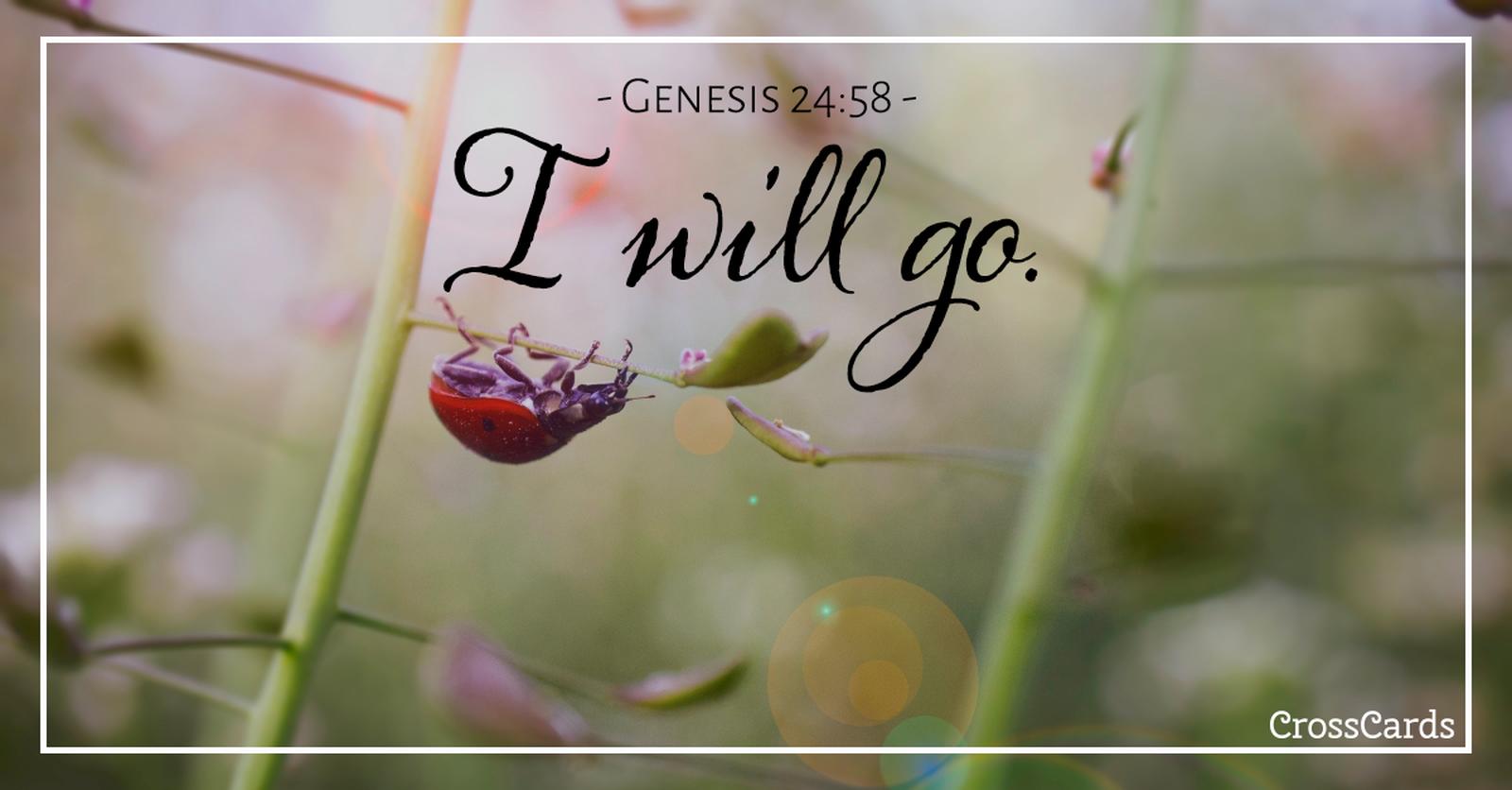 Genesis 24:58 ecard, online card