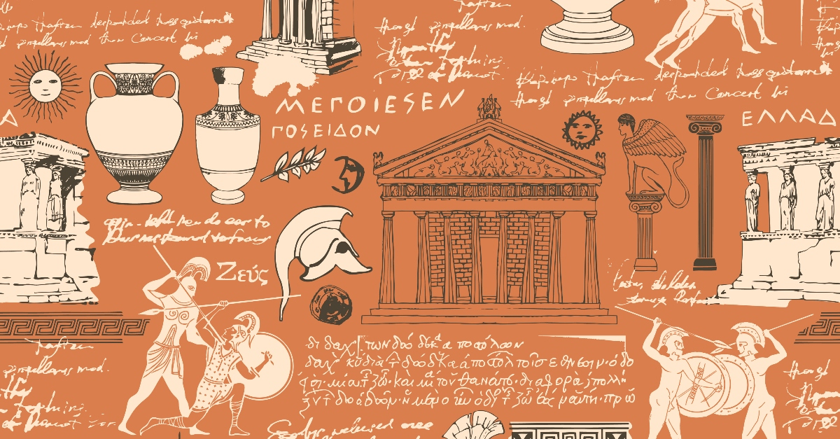 Vector pattern of Ancient Greece